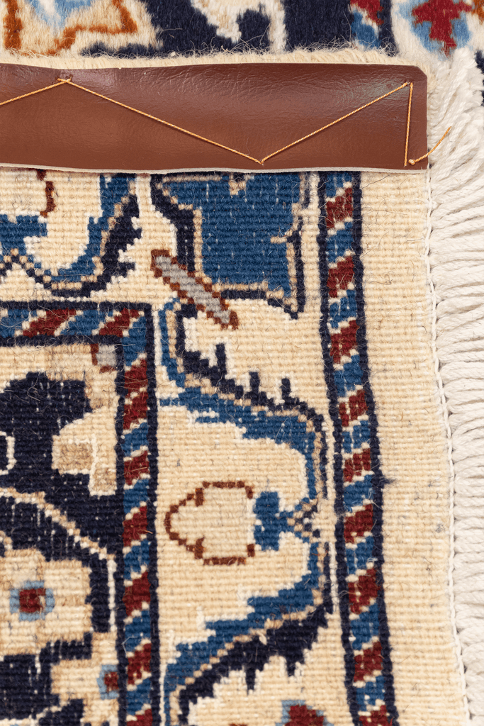 Persian Nain Hand-Made Wool, Silk Rug - Tabak Rugs