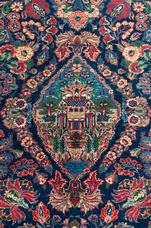 Persian Tehran Hand-Made Wool Rug - Tabak Rugs