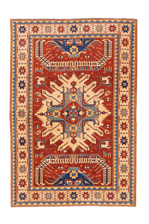 Pakistan Eagle Kazak Hand-Made Wool Rug - Tabak Rugs
