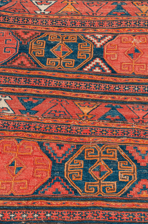 Antique Caucasian Sumak Hand-Made Wool Rug - Tabak Rugs
