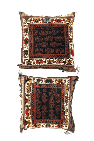 Afghani Collection Pillows Hand-Made Wool (Pair) - Tabak Rugs