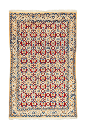 Persian Nain Hand-Made Wool and Silk Rug - Tabak Rugs