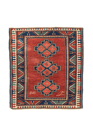 Caucasian Kazak Hand-Made Antique Wool Rug - Tabak Rugs