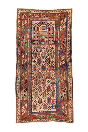 Shirvan Prayer Hand-Made Wool Rug - Tabak Rugs