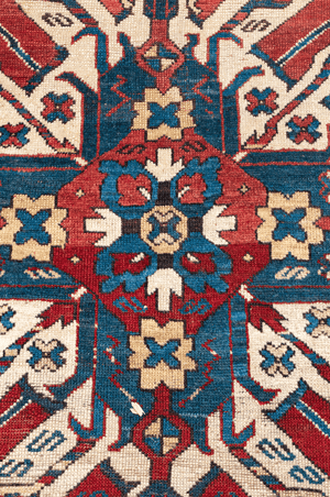 Eagle Kazak Antique Hand-Made Wool Rug - Tabak Rugs