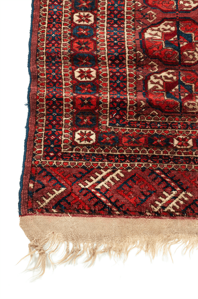 Turkmeni Bukhara Hand-Made Wool Rug - Tabak Rugs