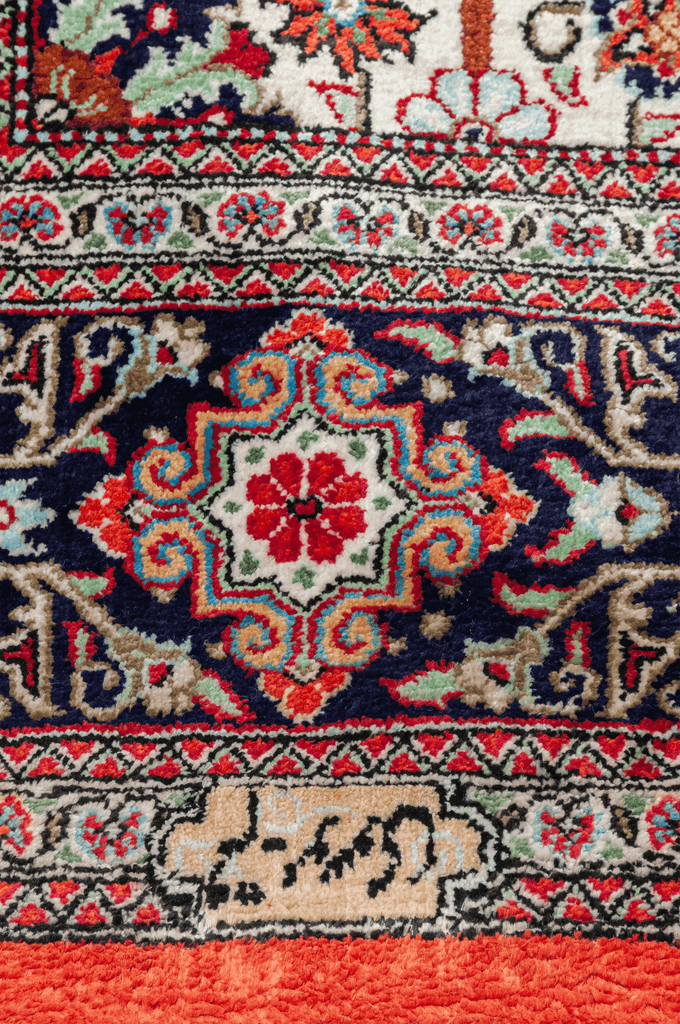 Persian Qum, Luxury Wool and  Silk Rug - Tabak Rugs
