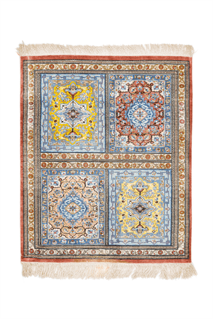 Persian Qum Hand-Made Wool and  Silk Rug - Tabak Rugs