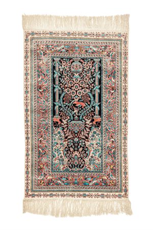 Chinese Hand-Made Silk Rug - Tabak Rugs