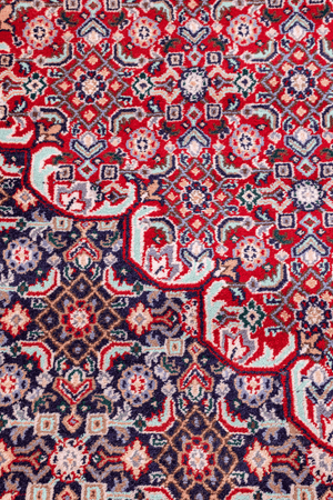 Indian Mahi Design Hand-Made Wool Rug - Tabak Rugs