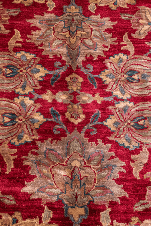 Indian Peshawar Hand-Made Wool Rug - Tabak Rugs