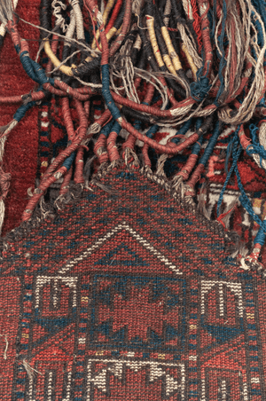 Turkmen Door Hanging Hand-Made Wool Rug - Tabak Rugs