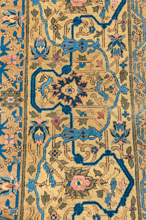 Persian Mashad Hand-Made Wool and Silk Rug - Tabak Rugs