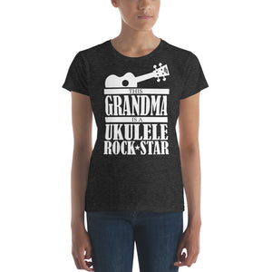 This Grandma is a Ukulele Rock Star - Women's T-shirt