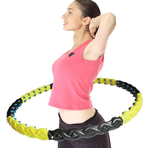Hula Hoop with Magnet Massage Ball Large and Weighted Hula Hoop