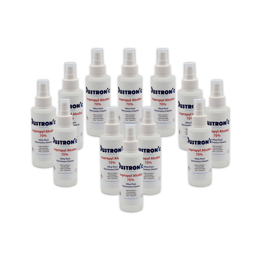 A. Isopropyl Alcohol 70% 4oz Mini Pump Spray, 12 Pack - SHIPPING INCLUDED