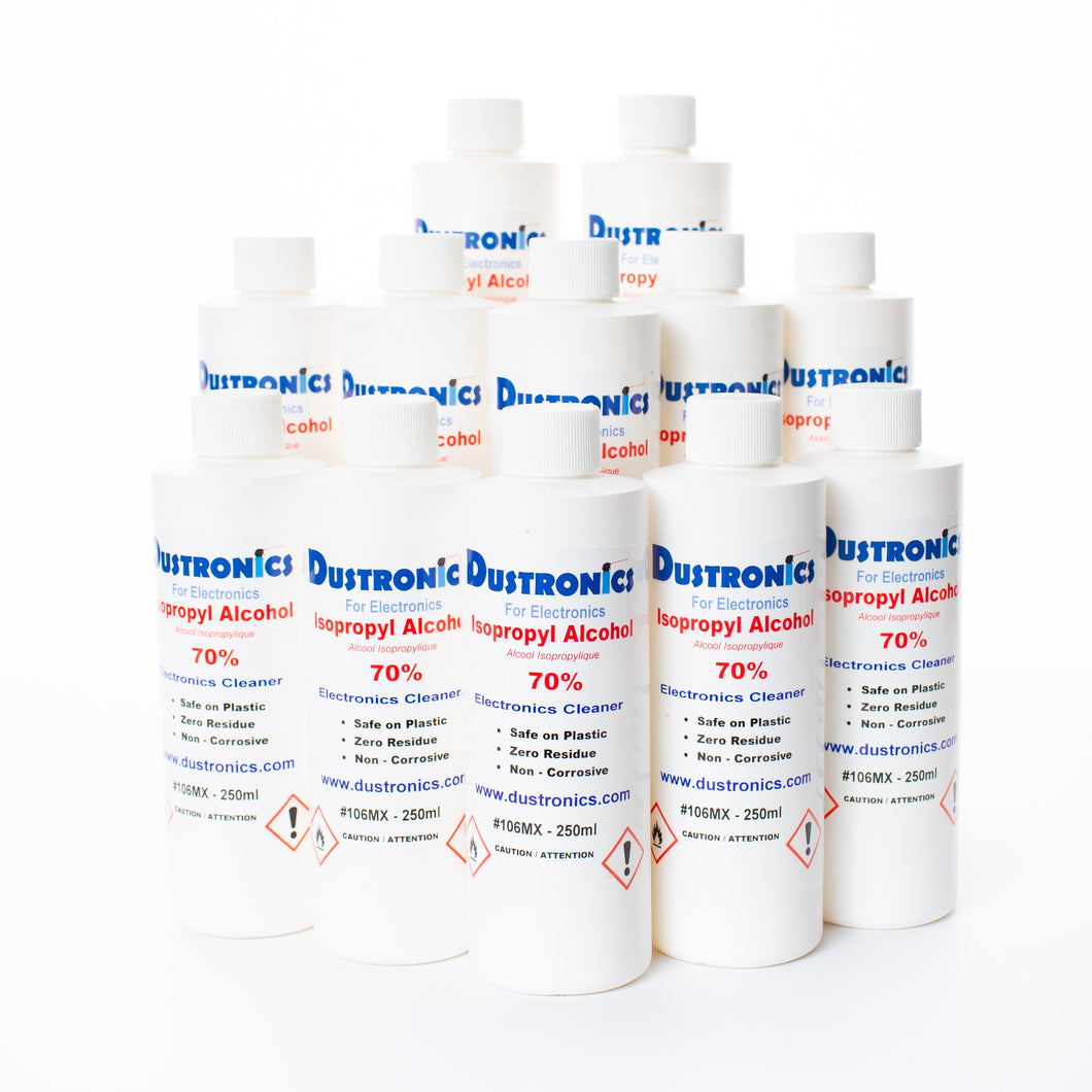 A. Ultra-Pure Isopropyl Alcohol 70%, 250ML 12 Pack - SHIPPING INCLUDED