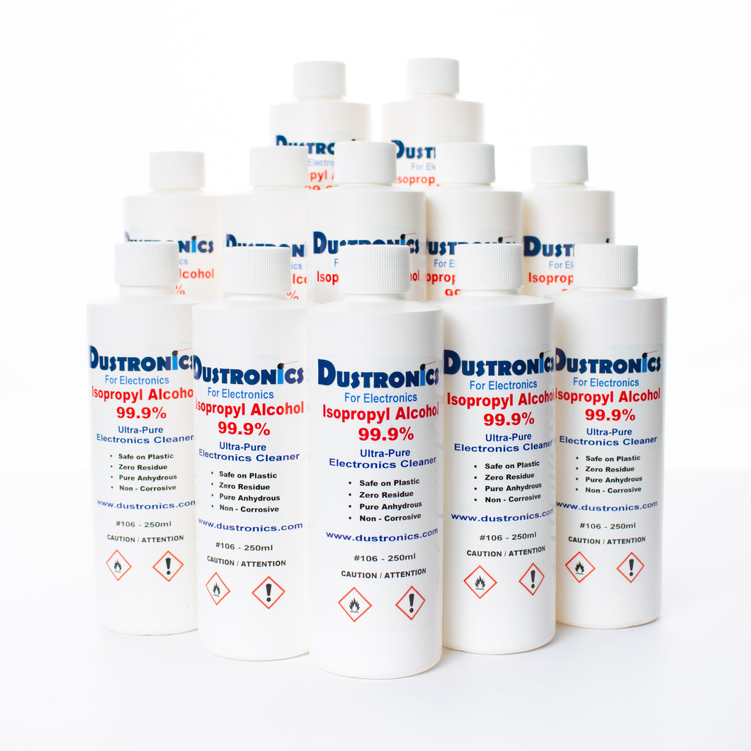 A. Ultra-Pure Isopropyl Alcohol 99.9%, 250ML 12 Pack - SHIPPING INCLUDED
