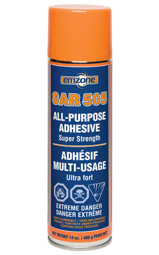 Emzone SAR 505 Super Strength All Purpose Adhesive, 14 oz / 400 g