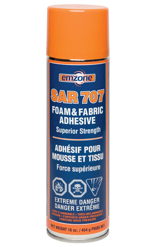 Emzone SAR 707 Foam and Fabric Adhesive, 16OZ/454g