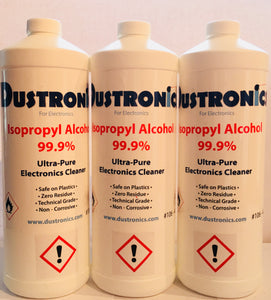 Electronics Cleaner 99.9% Isopropyl Alcohol 3x1L Pack