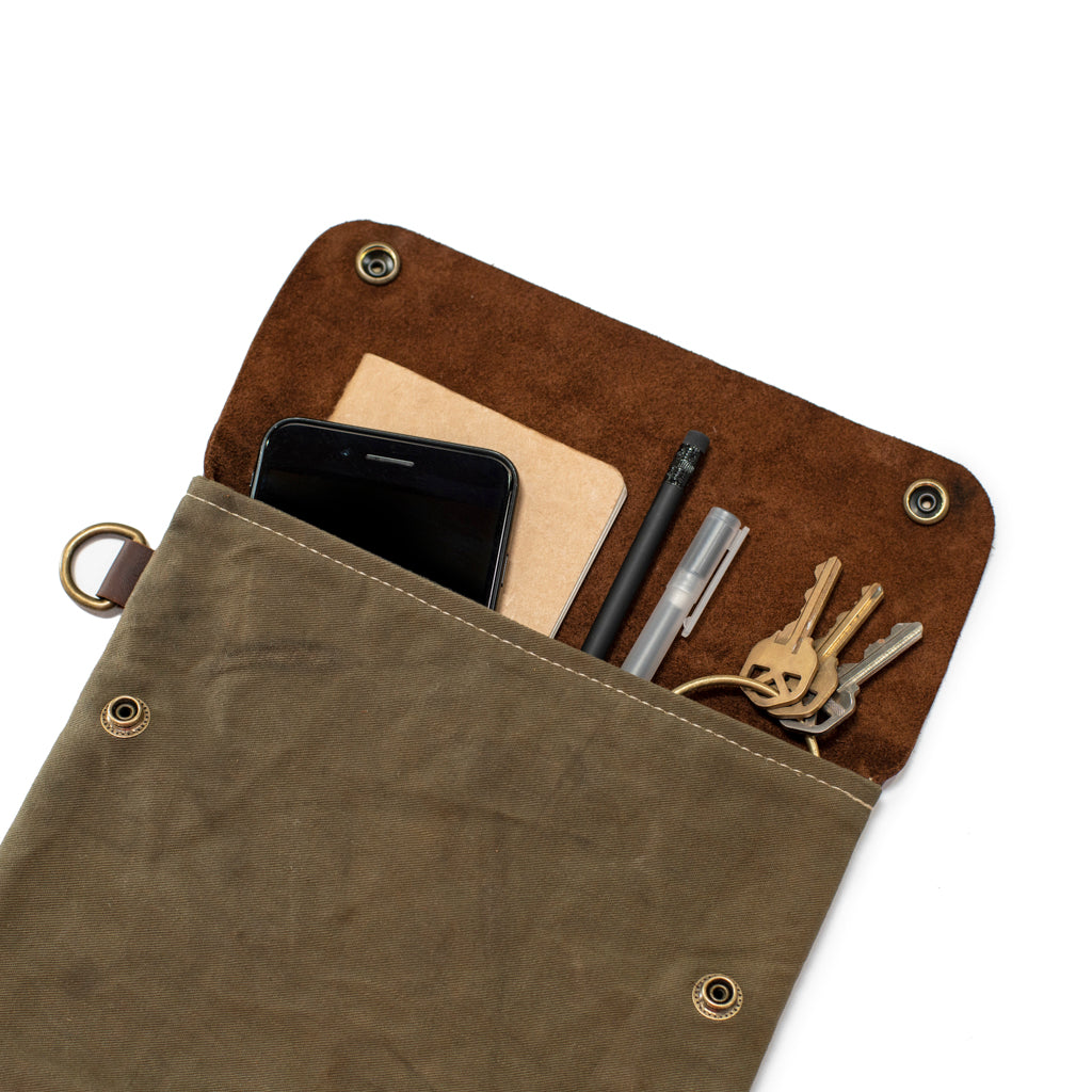 Military / Leather pouch