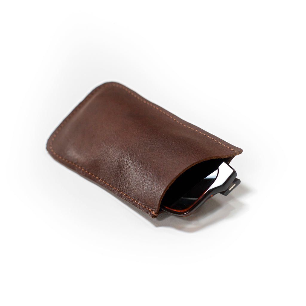 Sunglasses leather sleeve