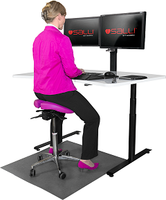 Salli Multiadjuster in use at desk
