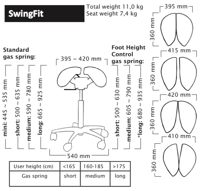 Salli Swingfit Specifications