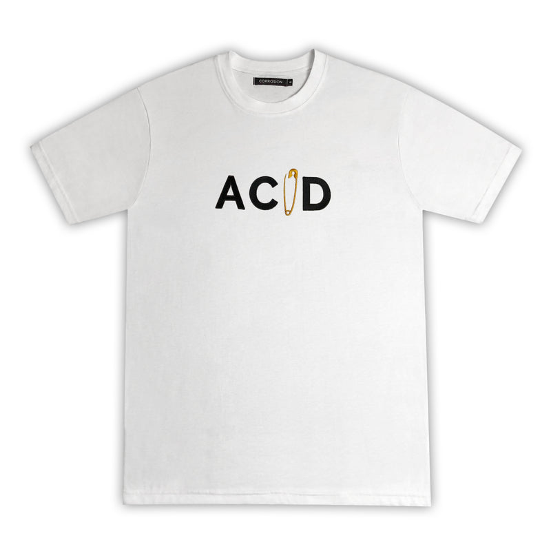 acid safety pin t-shirt