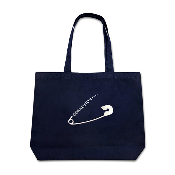 safety pin tote bag