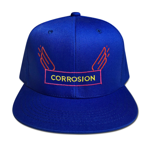corrosion wings royal blue cap