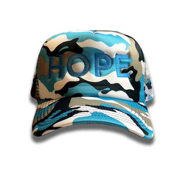 hope camo trucker mesh cap