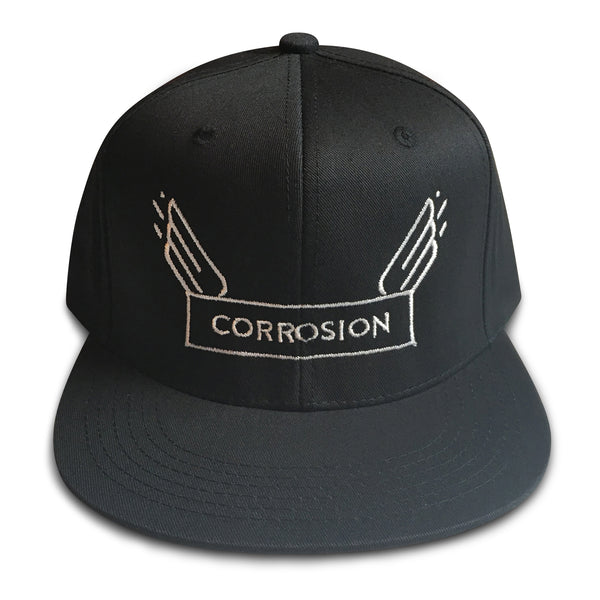corrosion wings black snapback