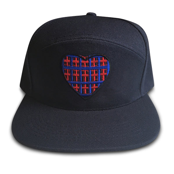 hand on your heart navy snapback