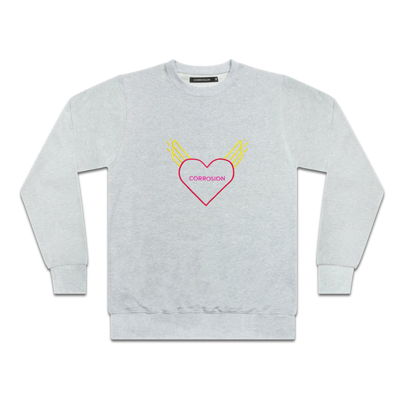 "Corrosion Apparel ""corrosion heart sweat"" in Grey Marle"