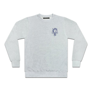 "Corrosion Apparel ""crest sweat"" in Grey Marle"