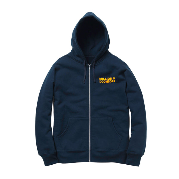 MILLION $ ZIP-UP HOODIE: NAVY