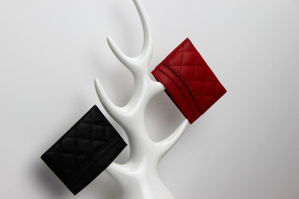 red and black cardholder