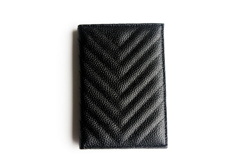Goals A.F Textured Leather Passport Holder- Black