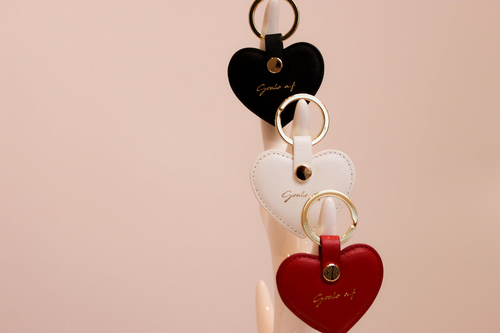 Keyring- red,black, white