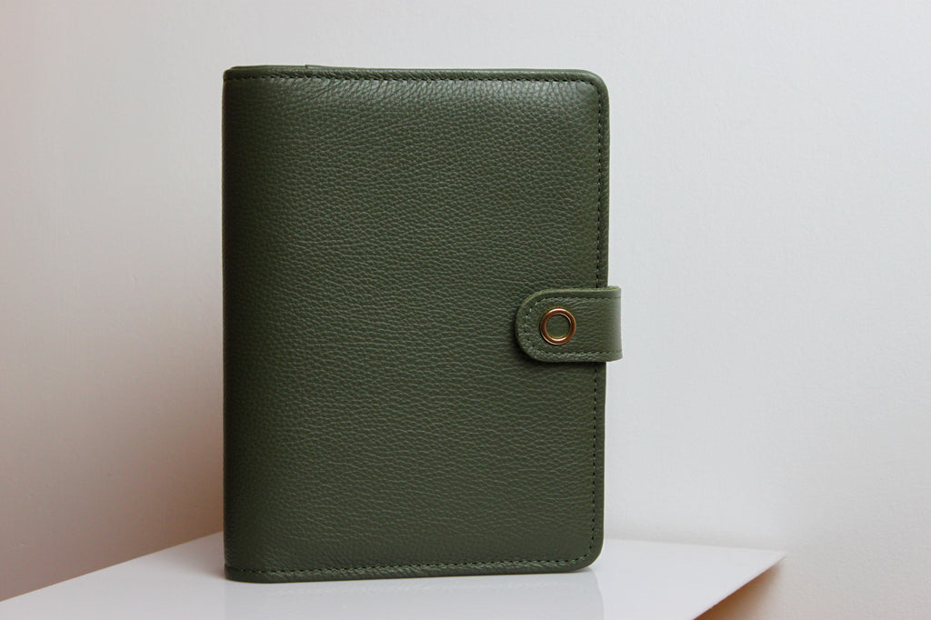 the green a5 leather planner