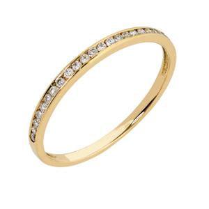 9kt Yellow Gold Channel Eternity Ring 0.11ct