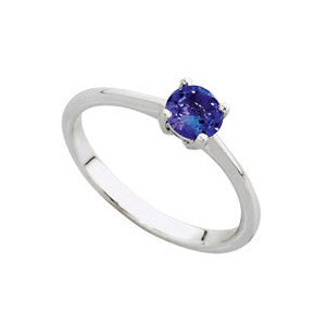 18kt White Gold 0.85ct Tanzanite Solitaire Ring
