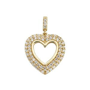 9kt Yellow Gold Heart Pendant