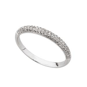 0.25ct 9kt White Gold Pave Eternity Band