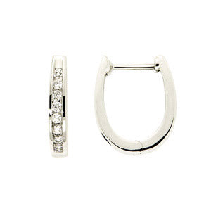 0.25ct Diamond & Sapphire For Life Huggie Earrings