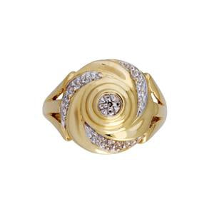 9kt Yellow Gold Diamond Dress Ring