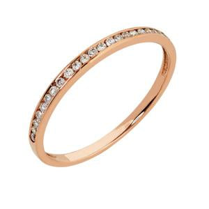 9kt Rose Gold Channel Eternity Ring 0.11CT