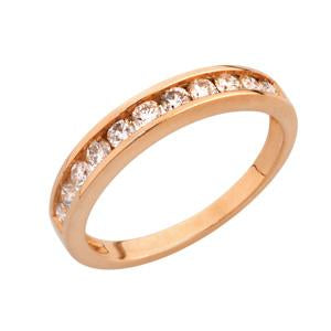 9kt Rose Gold Channel Eternity Ring 0.20ct